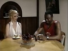 Black boy eats cootchie of white bosomy rapacious slut