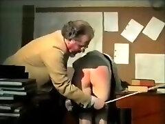 2 naughty schoolgirls spanked