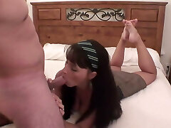 Classic foot fuck with sweet black-haired. Back to basics.