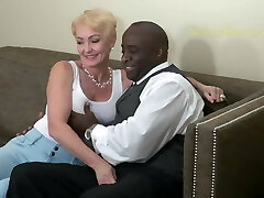 Blonde Nympho Fucks Black Man Rigid. Classic