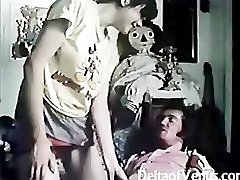 Vintage Hairy French Teen Girl Has Bang-out