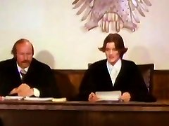 Lovemaking - Judge investigates facts of the case in the courtroom