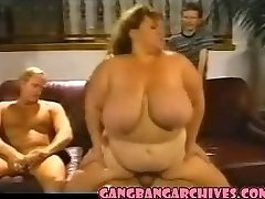 Gang-bang Archive Vintage BBW MILF cockslut gangbanging party
