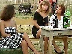 Angelica Bella and Simona Valli in Retro Group Plow