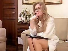 Vintage Fur Covered Mature has a Threesome and DOUBLE PENETRATION in Lingerie!