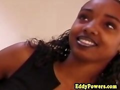 Ebony fledgling romping oldman after oral