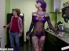 BurningAngel Emo Stripper gets Vagina Pounding