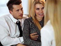 LOS CONSOLADORES - Erotic FFM 3some with Karina Grand