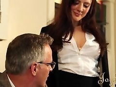 JOYBEAR Sexy Secretary Samantha Bentley rewarded by college principal