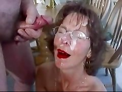 Extreme Mature Facial Bunch Cum