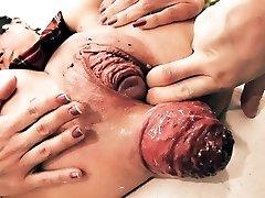 Wildly Huge Mini-rosebud! Cervix Exposure. Eggplant Penetratio