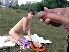 Dickflash - Cum in front of nude girl (720P version)