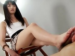hot little STUDENT give an amazing footjob shoejob