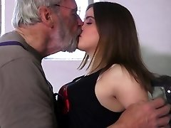 Very sweet Legal curly nubile bliss oldman in 69