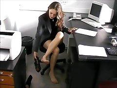 shoeless secretary Nadya