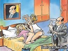 Jokey porn comic jokes