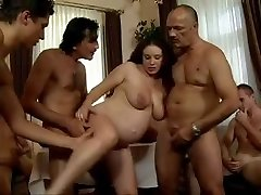 daddy's Friends Gang-bang his pregnant daughter