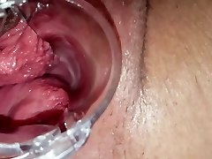 Insane girlfriend gaping vag