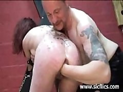 Slave nymph fist porked till she screams