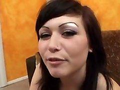 beauty sucks pokes and swallows cumshot