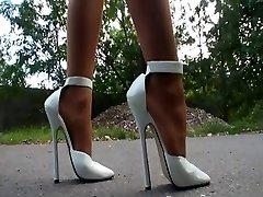 LGH - German Stockings + High High-heeled Slippers Outdoor