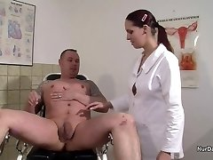 German Nurse want a Pleasure Gel Example and get it with Drill