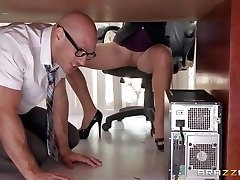 Boss Lela Starr gets hold of her colleague's ample beefstick