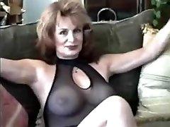 Milf in black lingerie