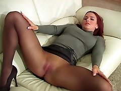 Red-haired In Stockings