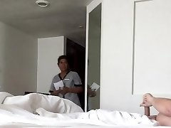 Hotel Maid catches me stroking my weenie!