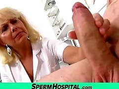 Wicked female doctor Koko cfnm hospital handjob