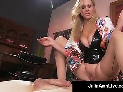 Boy Toy Gets Smothered By Glamorous Milf Julia Ann's Cooch!