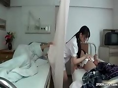 Japanese nurse likes fellating two part3