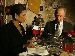 Fashionable Italian Mature cheating husband on restaurant