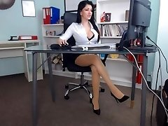 Glorious gal in her office