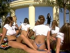 Hot intercourse in activity outdoors