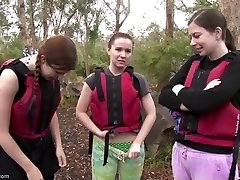 Rafting gals hook-up in the rapids