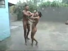 Indian Rainy outdoor Orgy