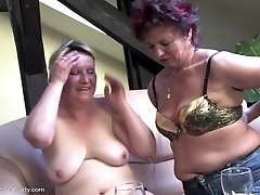 Mature hump party with moms and stud
