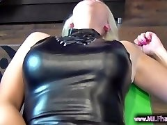 SCORCHING Blonde German MILF with pierced pussy