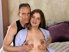 Young Knocked Up Chicked Fucked by Older Guy with Anal Creampie