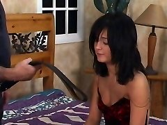 Torrid black hair babe gets a spanking in apartment
