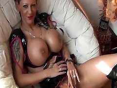 Tattooed German Girl with hefty Tits gets fucked