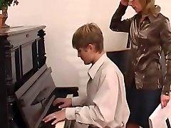 piano lecturer dominates her schoolgirl