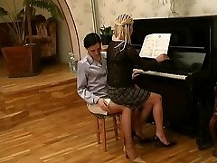 Russian all girl piano professor