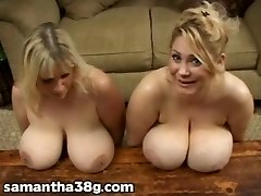 2 Big Tit COUGARS Shake Tits and Rub Nipples