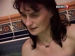 Some ugly gals in this swinger's romp blowing and getting drilled