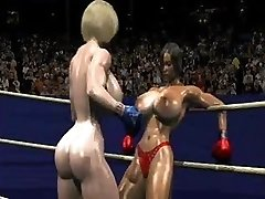 FPZ3D S vs G 3 DIMENSIONAL Toon Fistfight Catfight Huge Tits One-Sided