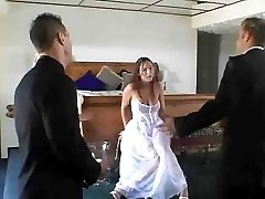 bride screws threeway by jackass