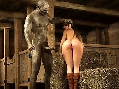 THREE DIMENSIONAL Scary Orcs Cum On Buxom Babe!